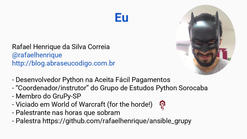 Rafael Henrique da Silva Correia @rafaelhenriqu...