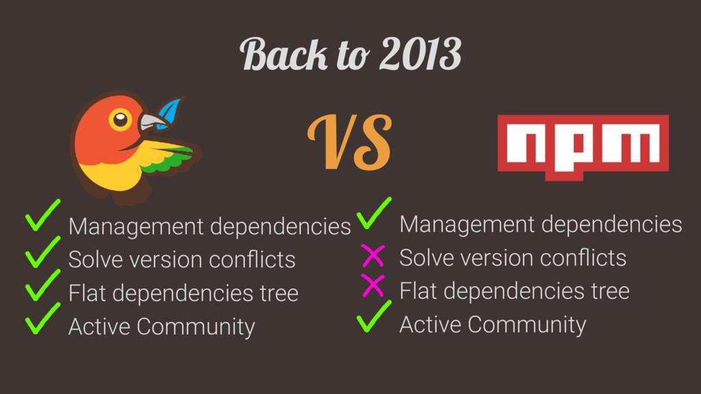 Back to 2013 VS Management dependencies Solve v...