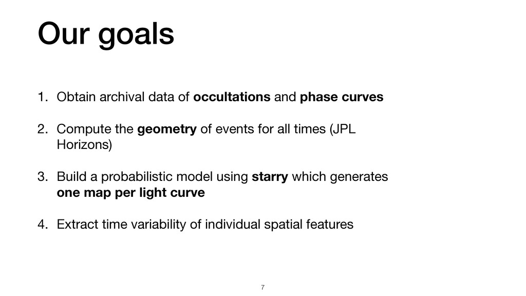 1. Obtain archival data of occultations and pha...