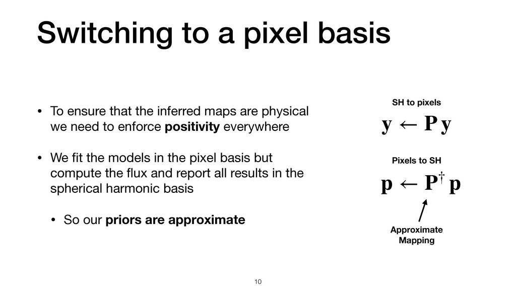 Switching to a pixel basis 10 • To ensure that ...