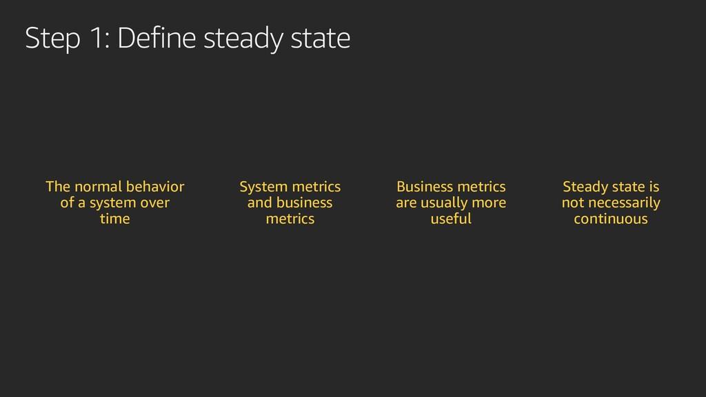 Step 1: Define steady state The normal behavior...