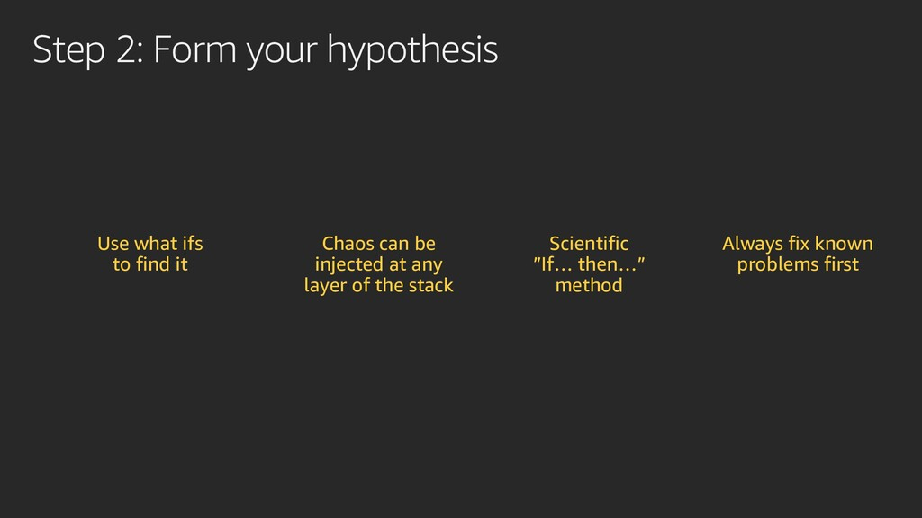 Step 2: Form your hypothesis Use what ifs to fi...