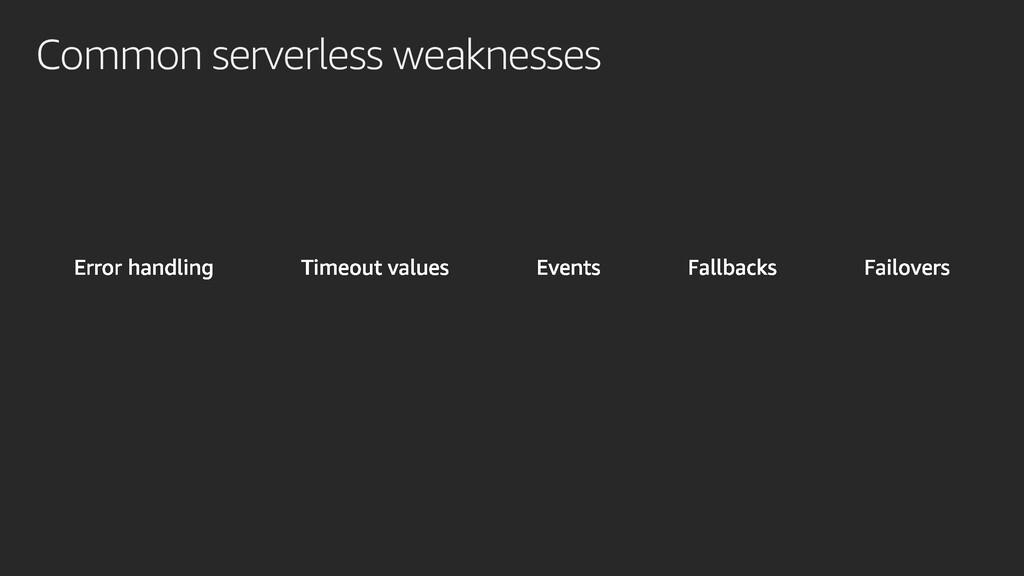 Common serverless weaknesses