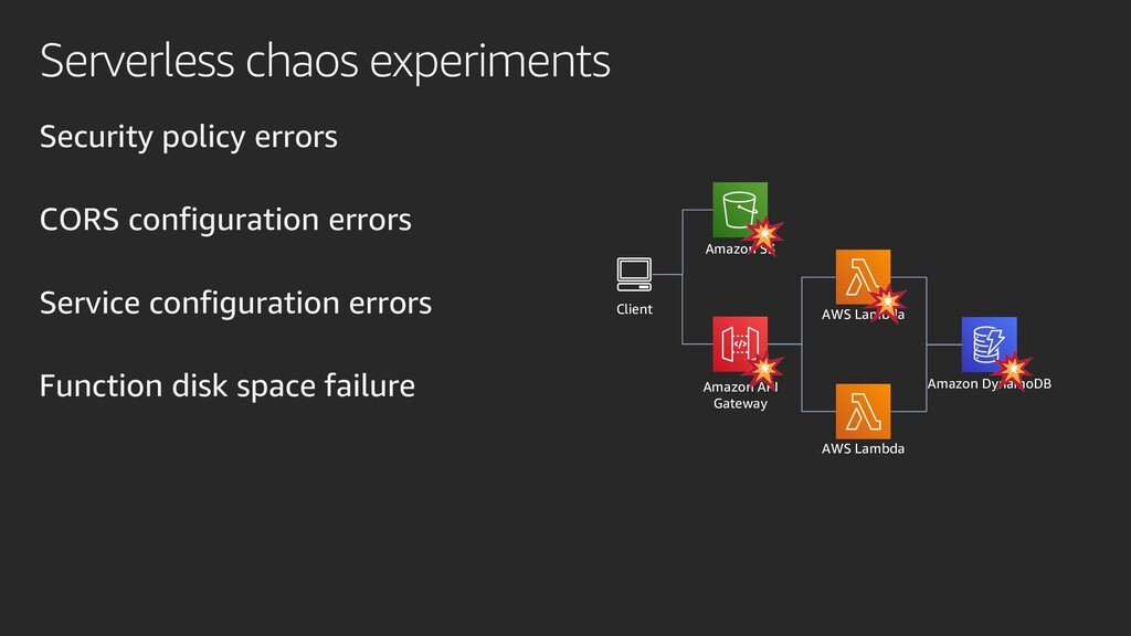 Serverless chaos experiments Security policy er...