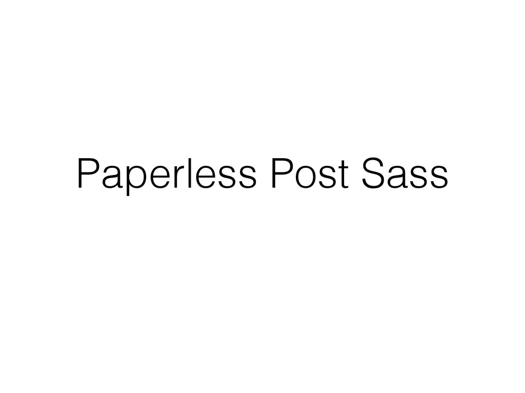 Paperless Post Sass