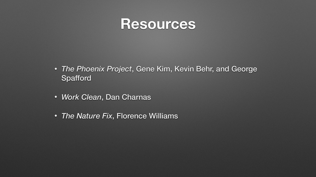 Resources • The Phoenix Project, Gene Kim, Kevi...