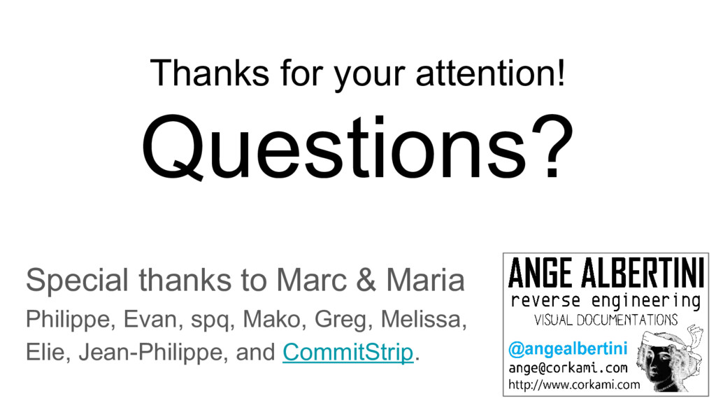 Thanks for your attention! Questions? Special t...