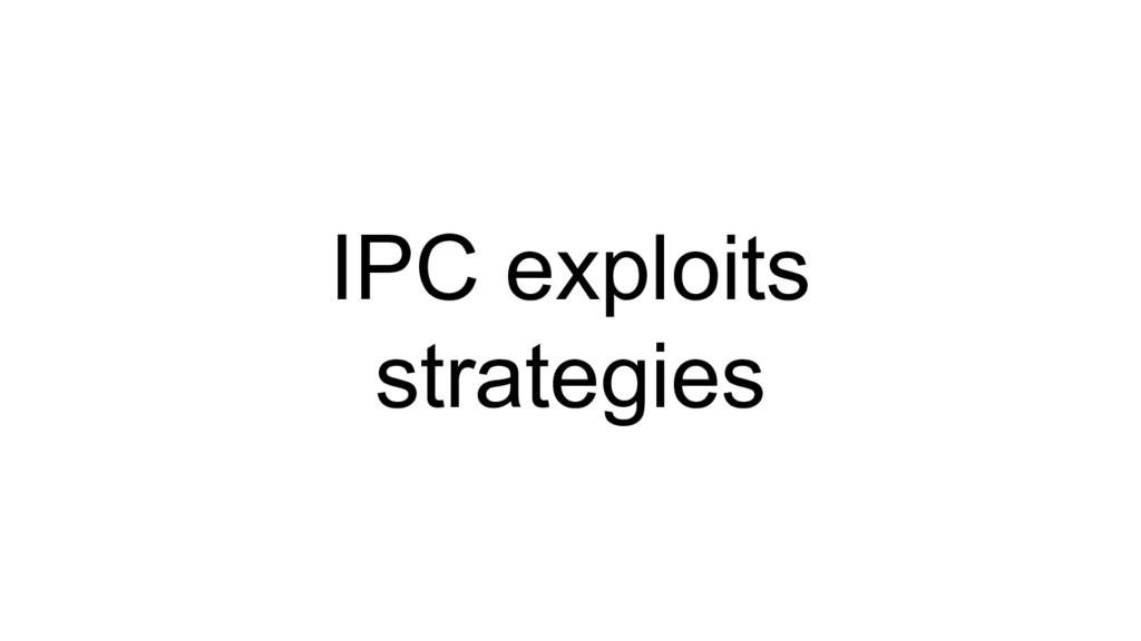 IPC exploits strategies