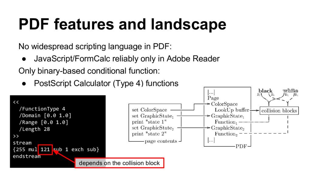 No widespread scripting language in PDF: ● Java...