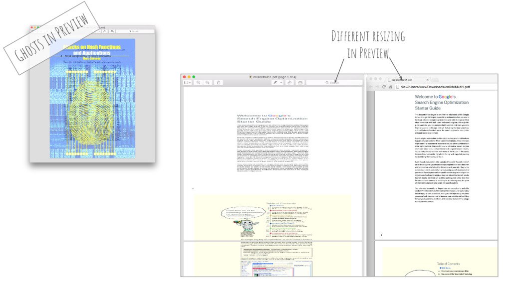 Different resizing in Preview Ghosts in Preview
