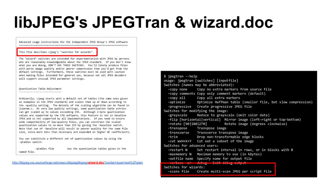 libJPEG's JPEGTran & wizard.doc $ jpegtran --he...