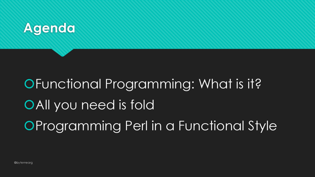Agenda šFunctional Programming: What is it? šAl...