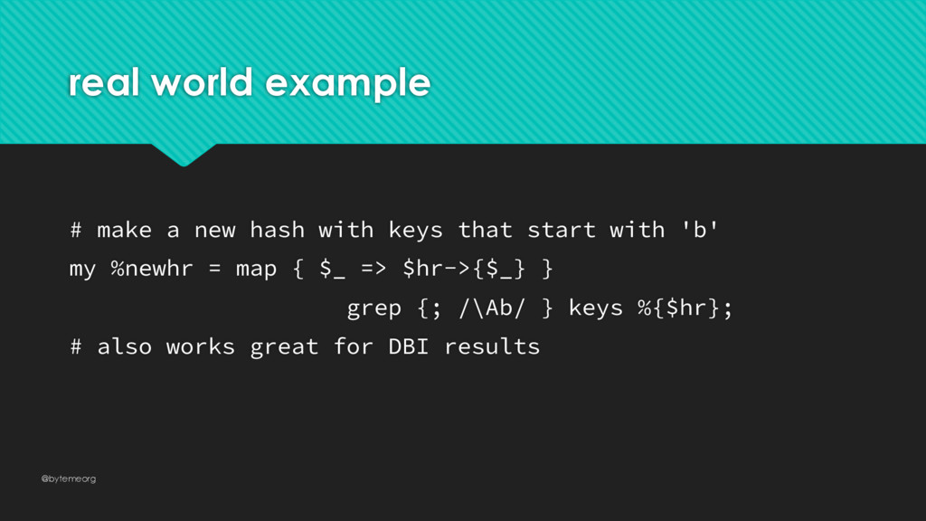 real world example # make a new hash with keys ...