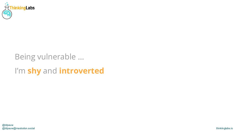 @tdpauw thinkinglabs.io A tale of 2 teams