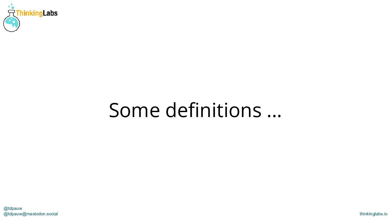 @tdpauw thinkinglabs.io Mainline is the line of...
