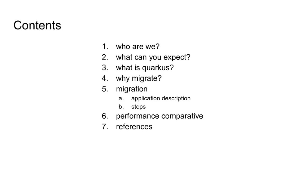 Contents 1. who are we? 2. what can you expect?...