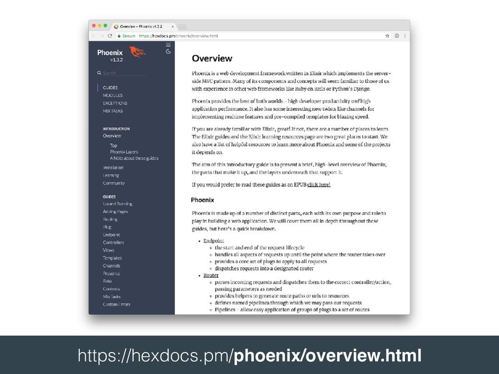 https://hexdocs.pm/phoenix/overview.html