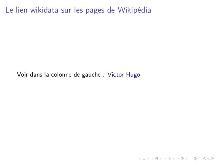 Le lien wikidata sur les pages de Wikipédia Voi...