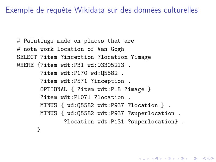 Exemple de requête Wikidata sur des données cul...