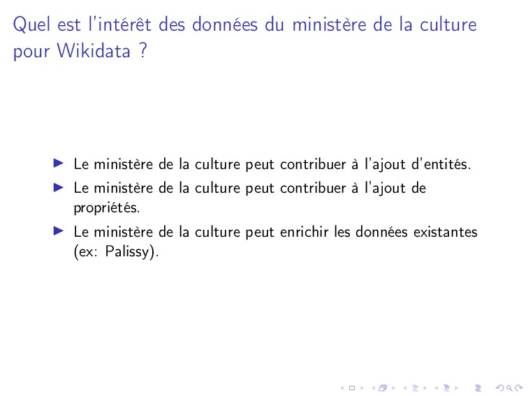 Quel est l'intérêt des données du ministère de ...