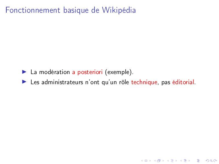 Fonctionnement basique de Wikipédia La modérati...