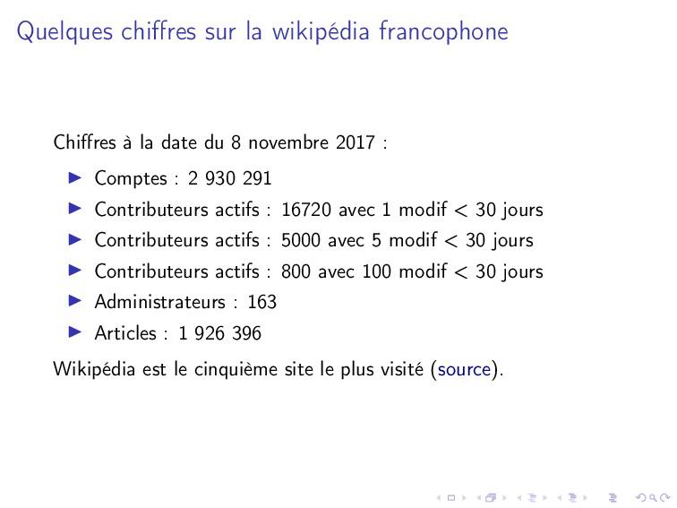 Quelques chiffres sur la wikipédia francophone C...