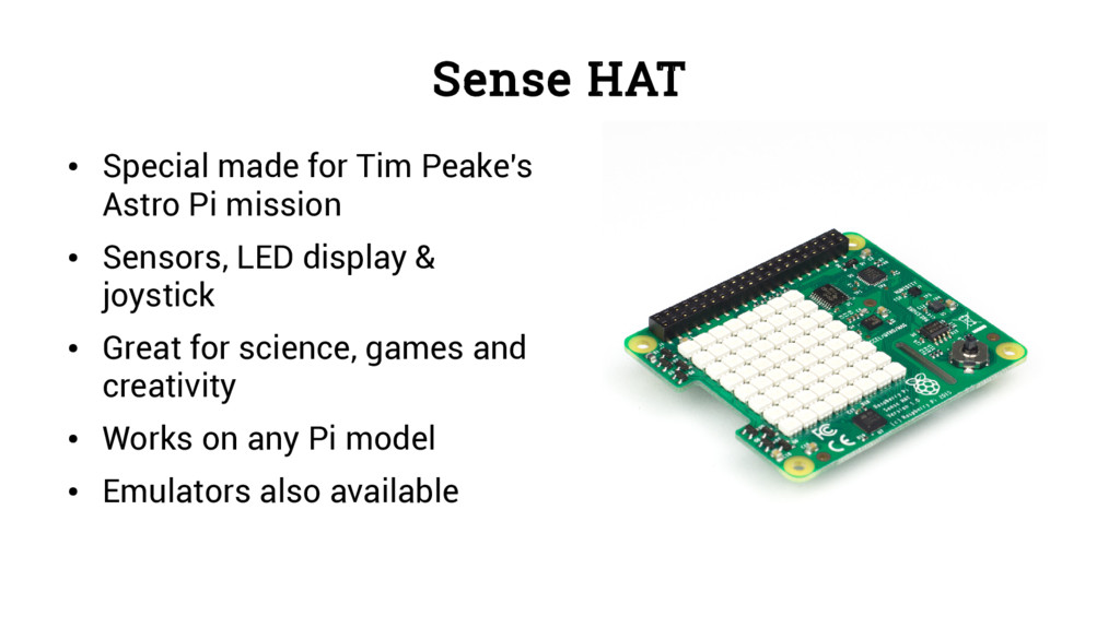Sense HAT ● Special made for Tim Peake's Astro ...