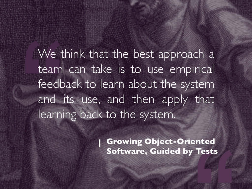 """"""" We think that the best approach a team can ta..."""