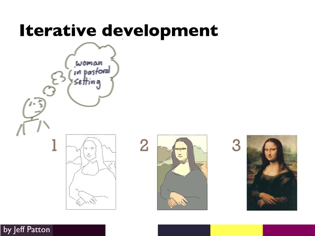 1 2 3 Iterative development  by Jeff Patton