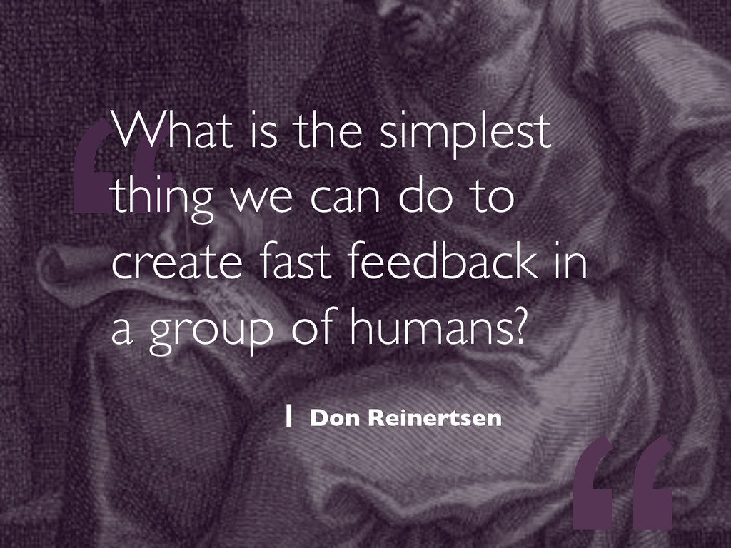 """"""" What is the simplest thing we can do to creat..."""