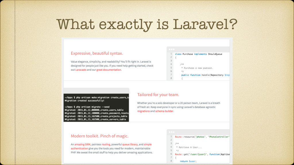 What exactly is Laravel?