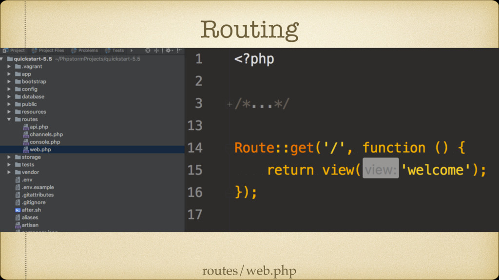 Routing routes/web.php