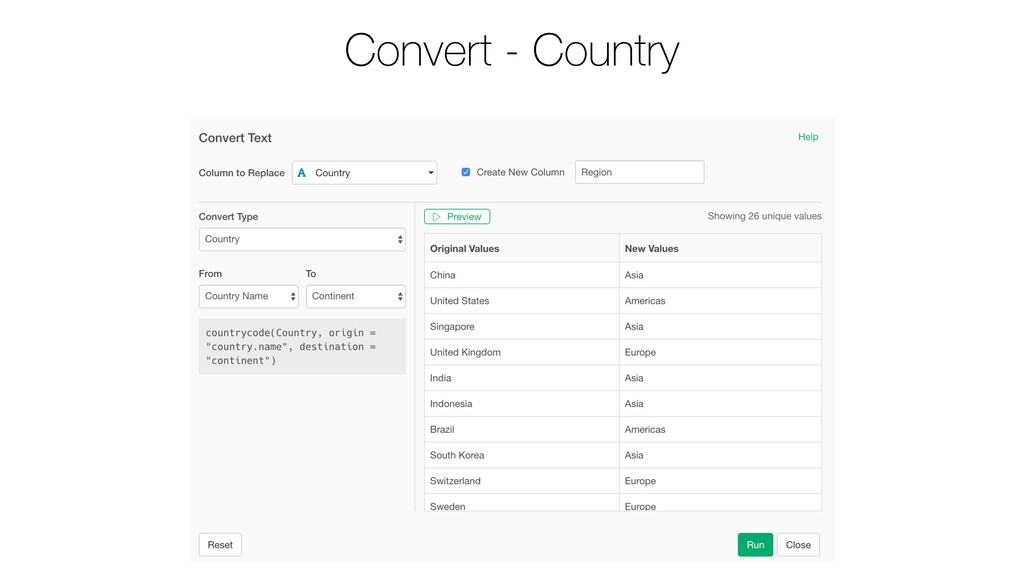 Convert - Country