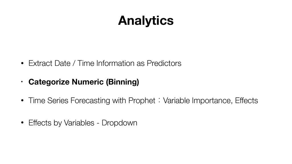 • Extract Date / Time Information as Predictors...