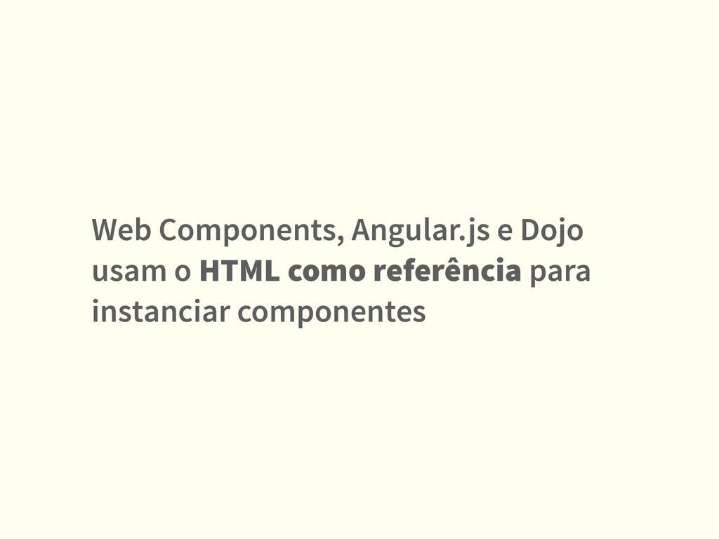 Web Components, Angular.js e Dojo usam o HTML c...