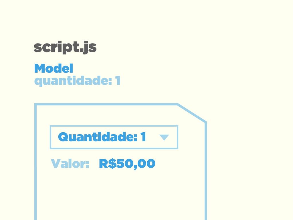 Valor: R$50,00 Quantidade: 1 Model  quantidade...