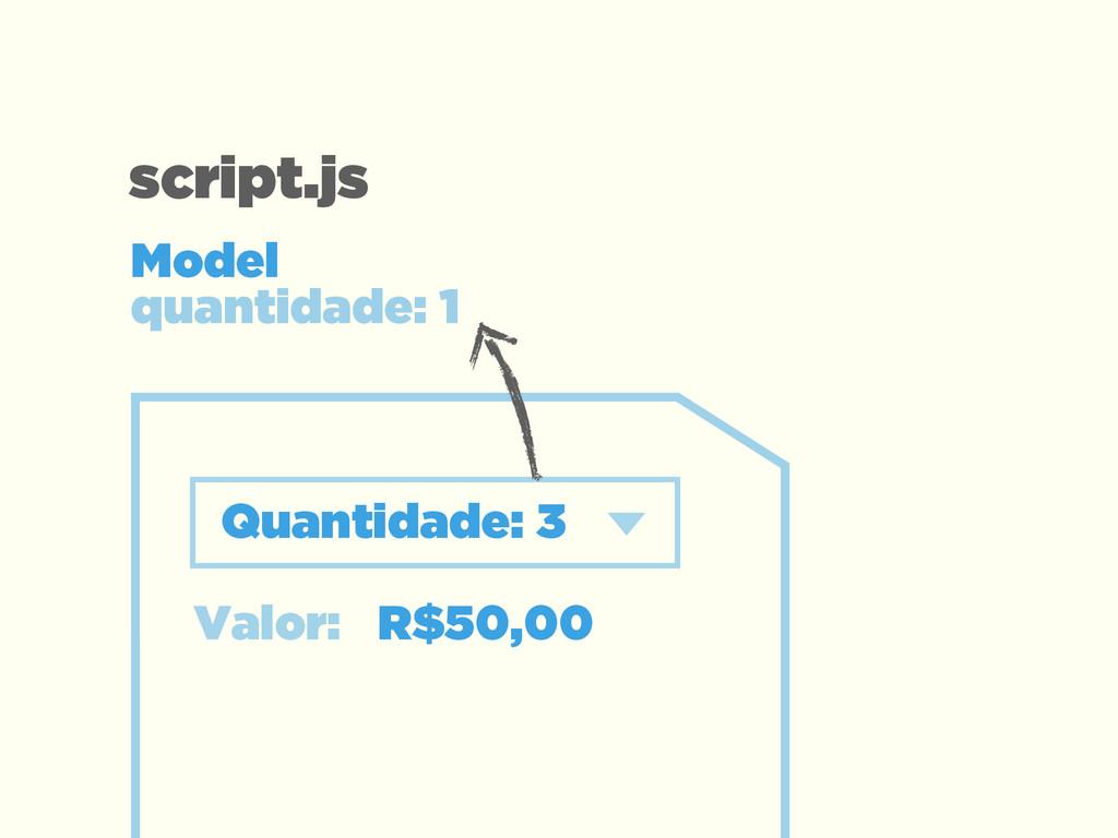 Valor: R$50,00 Quantidade: 3 Model  quantidade...