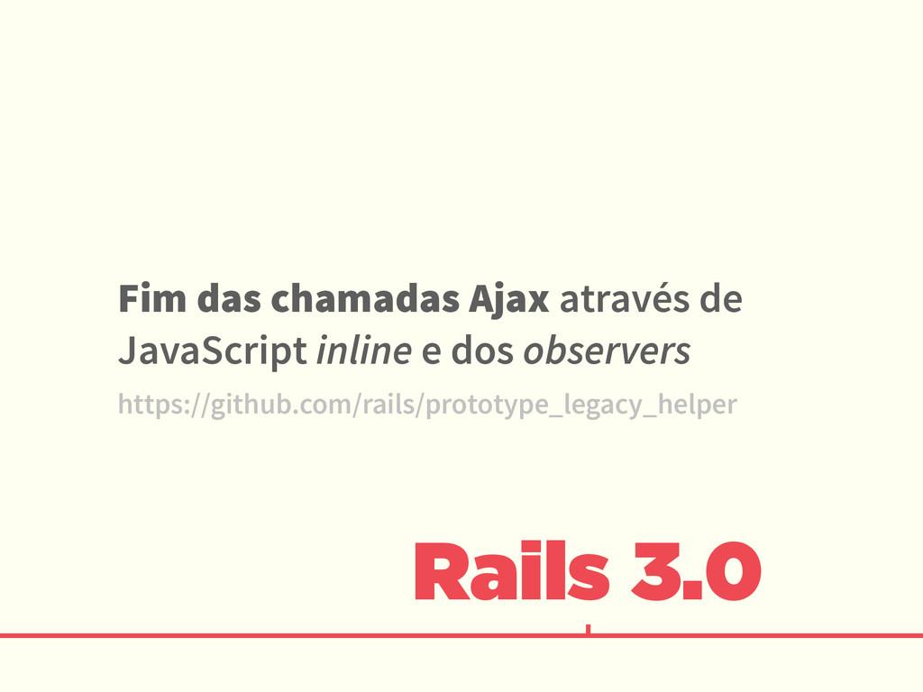 Rails 3.0 Fim das chamadas Ajax através de Java...