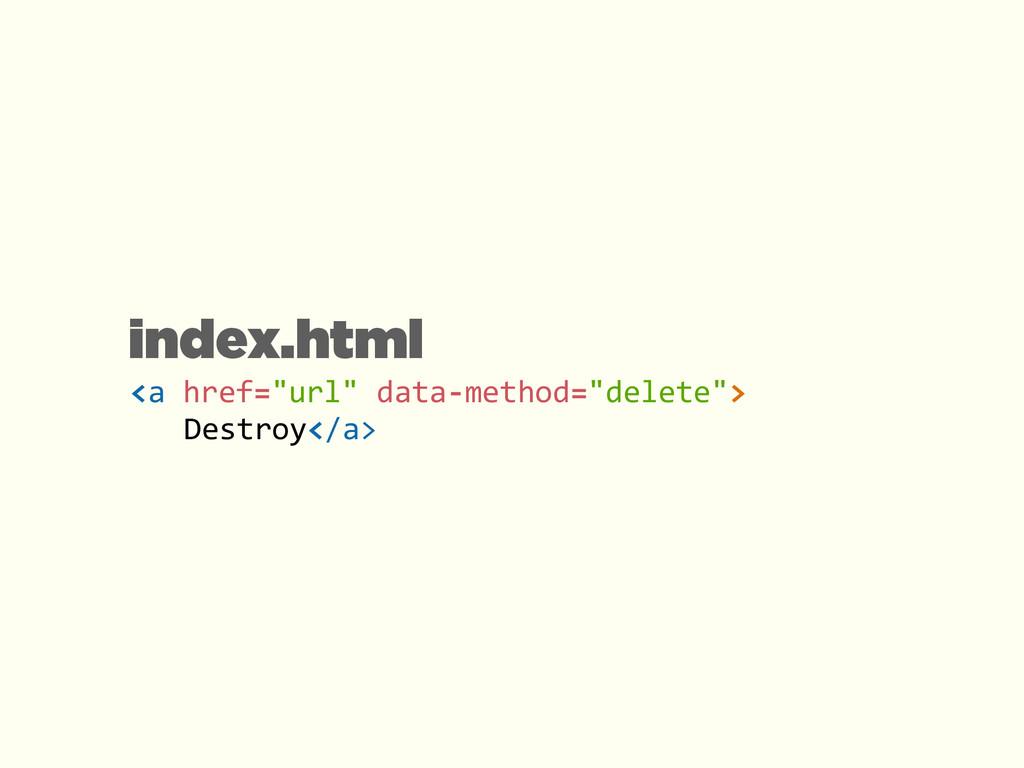 "<a href=""url"" data-‐method=""delete""> ..."