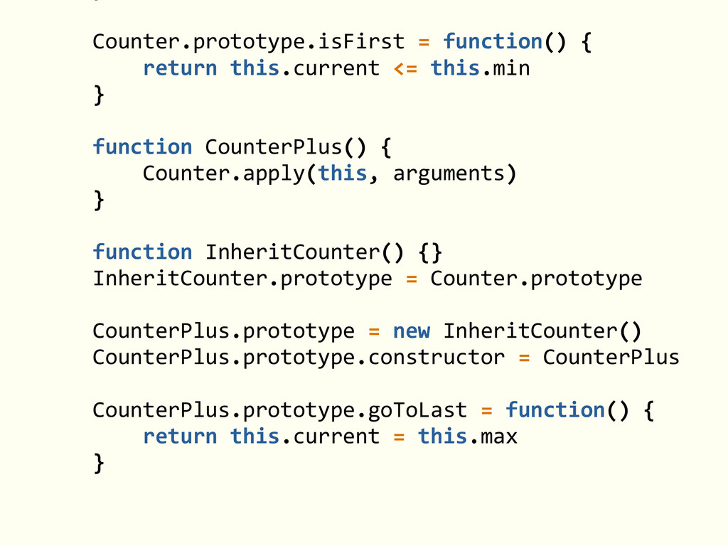 ! Counter.prototype.isFirst = function()...