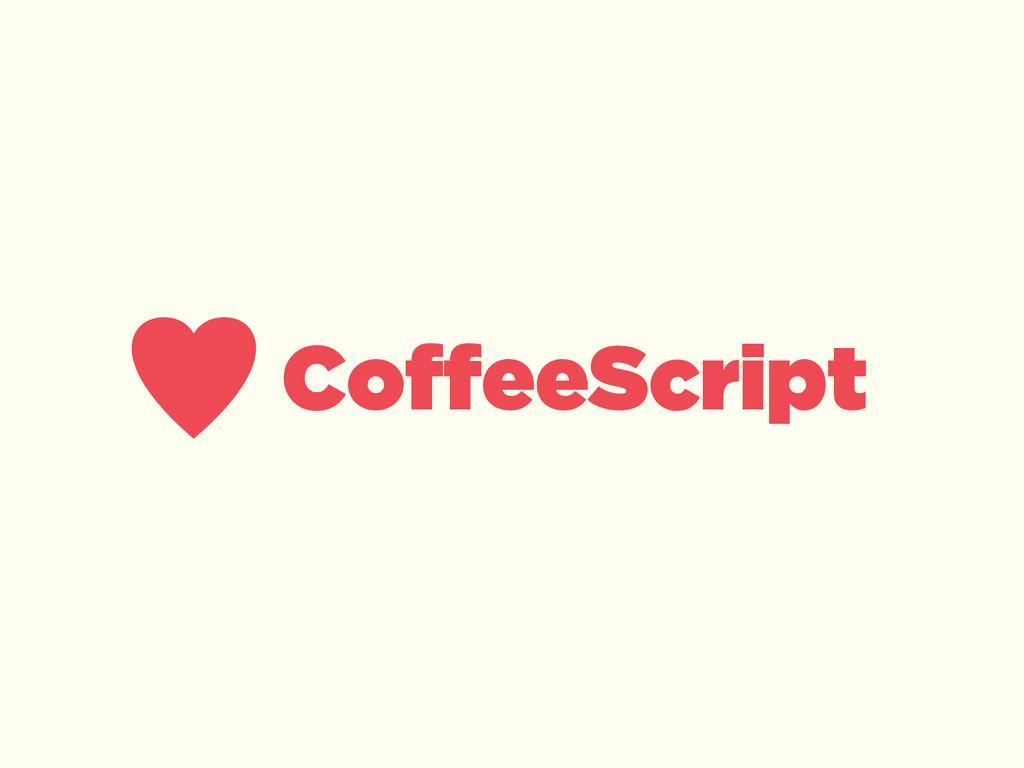 ♥CoffeeScript