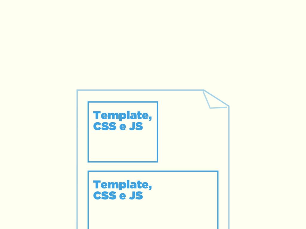 Template,  CSS e JS Template,  CSS e JS