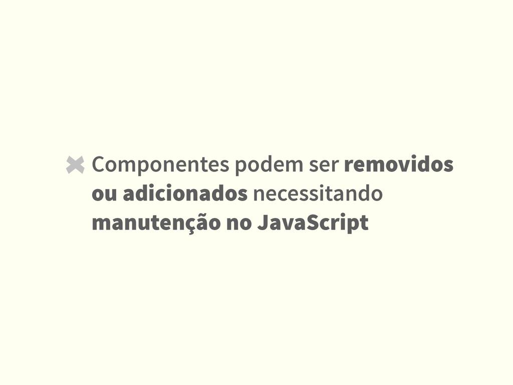 Componentes podem ser removidos ou adicionados ...