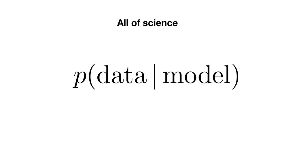 All of science p(data | model)