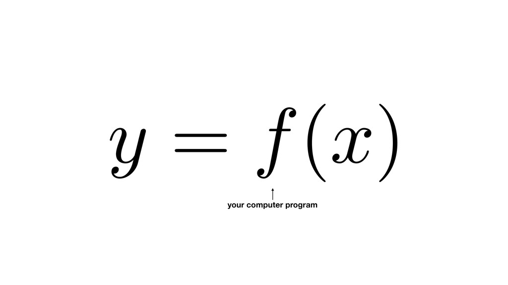 y = f(x) your computer program