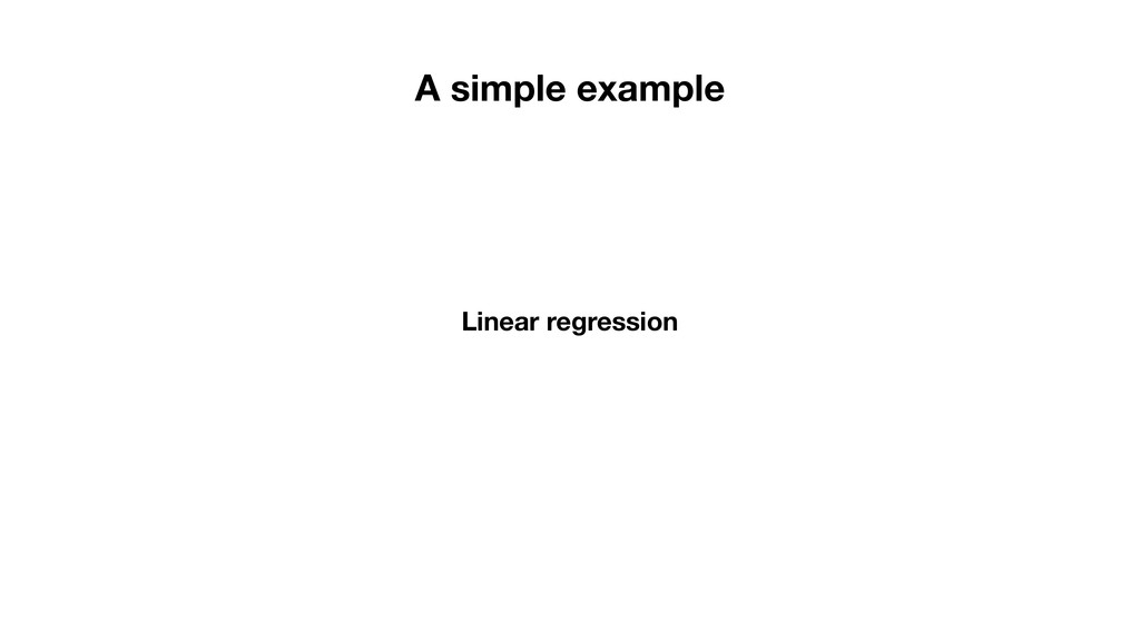 Linear regression A simple example