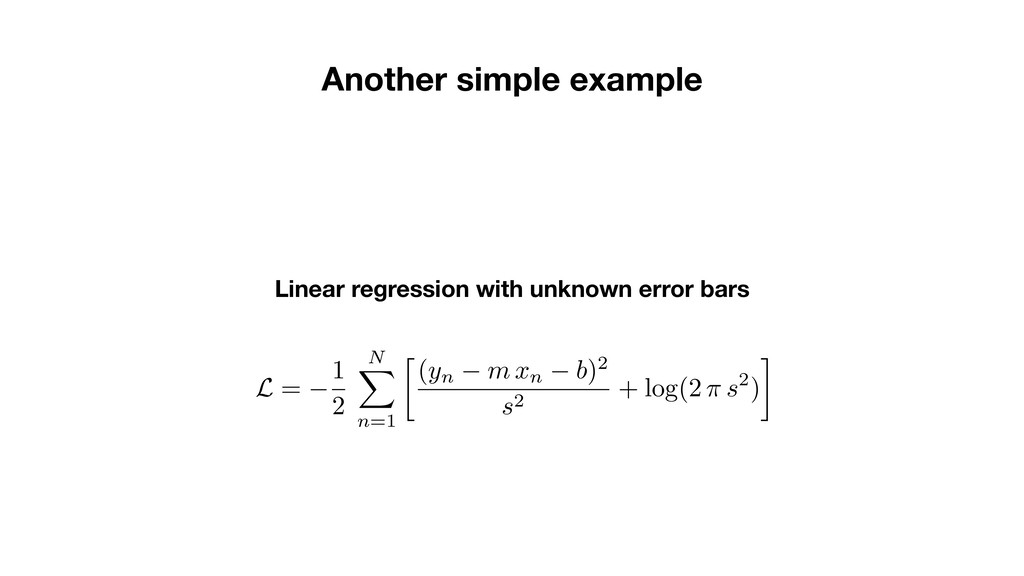 Linear regression with unknown error bars Anoth...