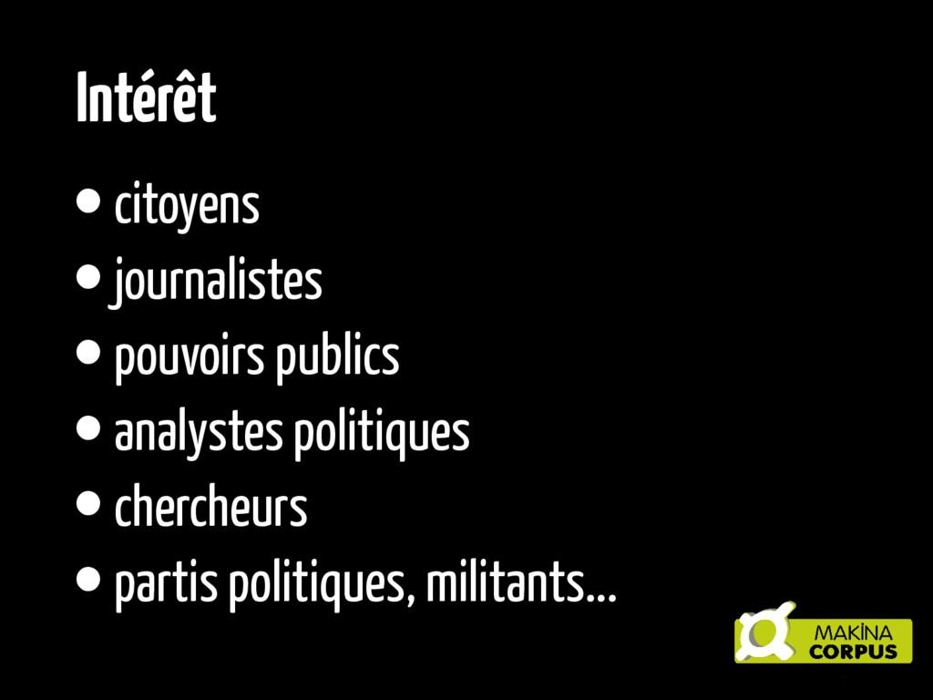 •citoyens •journalistes •pouvoirs publics •anal...