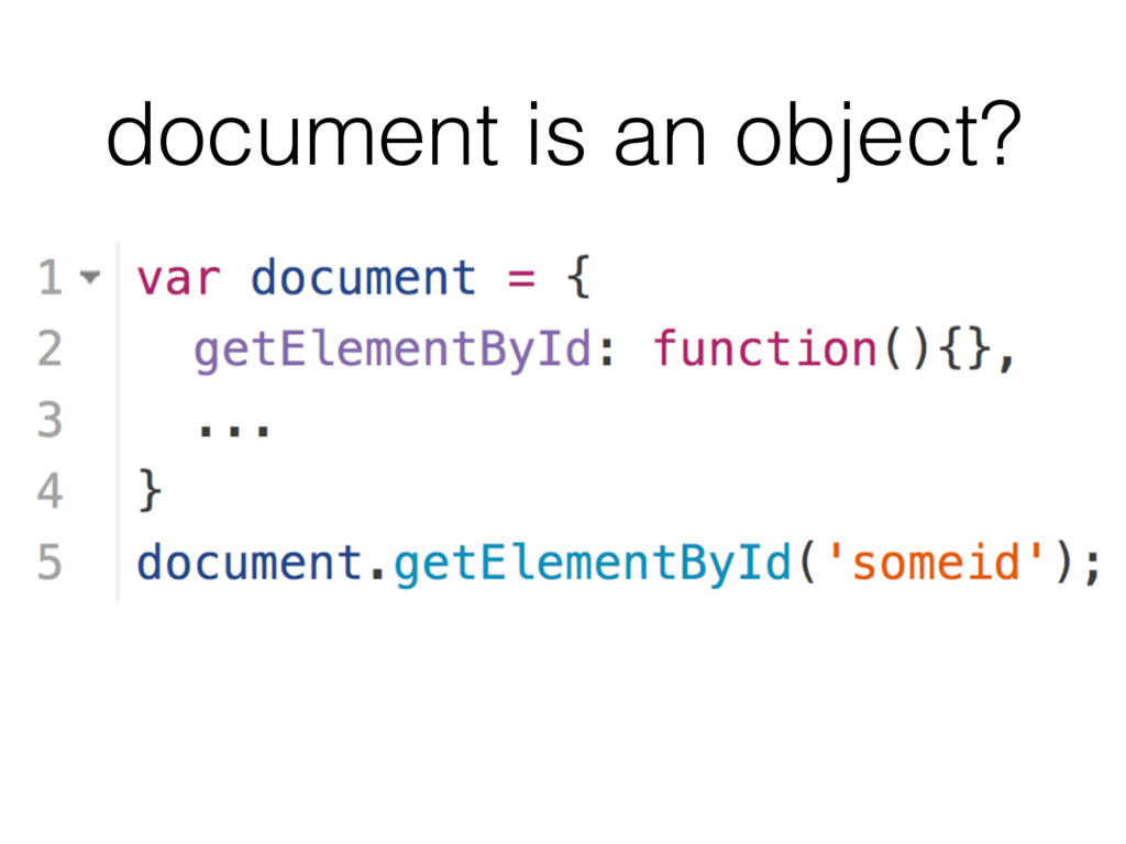 document is an object?
