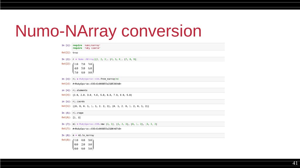 41 Numo-NArray conversion